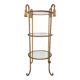 Italian Rope Side Table For Sale