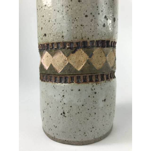 Tall Slender Studio Pottery Vase For Sale In Los Angeles - Image 6 of 9