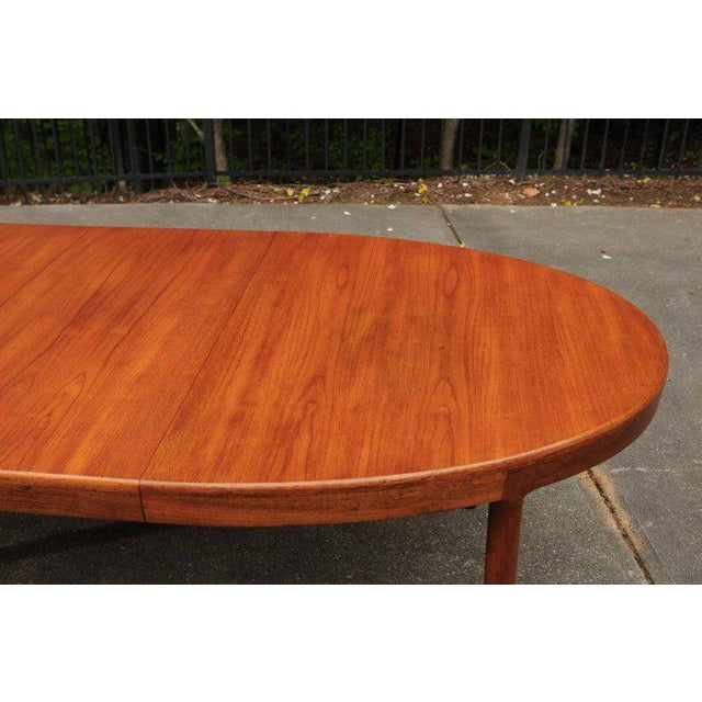 Mid-Century Modern Magnificent Teak Extension Dining Table by Harry Ostergaard, Circa 1963 For Sale - Image 3 of 11