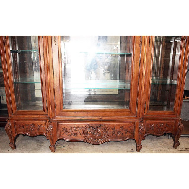 Bronze 19th Century French Provincial 3-Door Armoire For Sale - Image 7 of 11