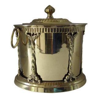 Brass Box With Attached Lid