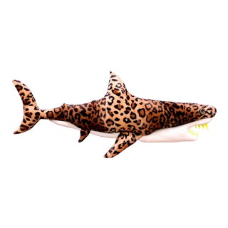 Enrico Cecotto Leopard Shark Contemporary Sculptural Painting For Sale