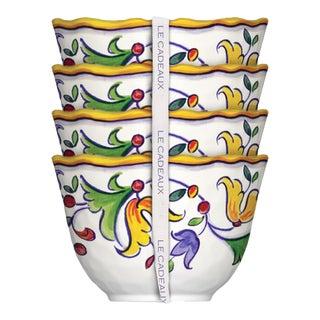 Capri Melamine Dessert Bowls, Set of 4 For Sale