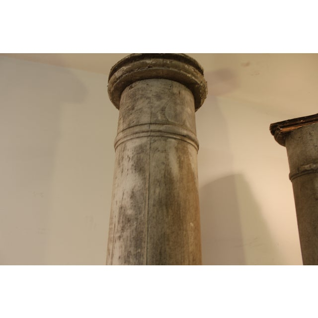 1930s Salvaged Architectural Columns - A Pair - Image 10 of 11