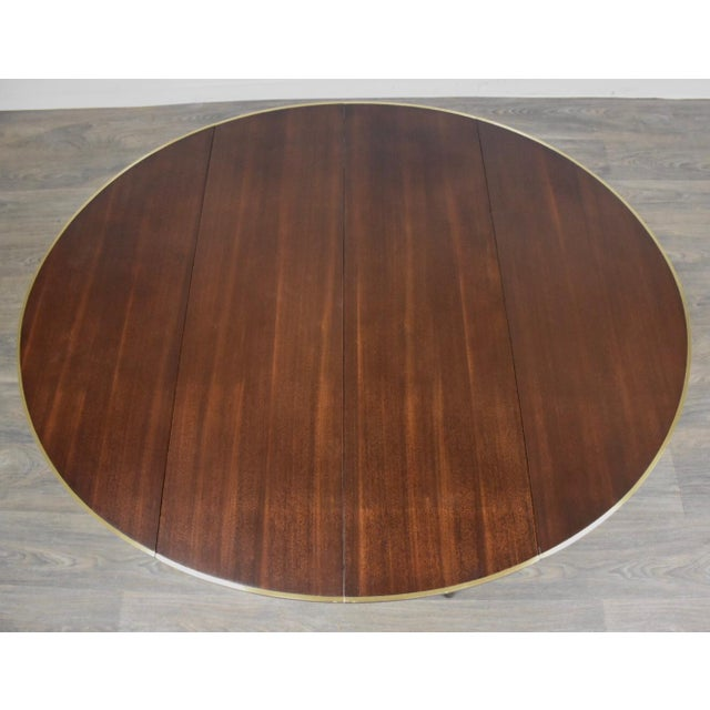 Paul McCobb Mahogany and Brass Dining Table For Sale - Image 11 of 13