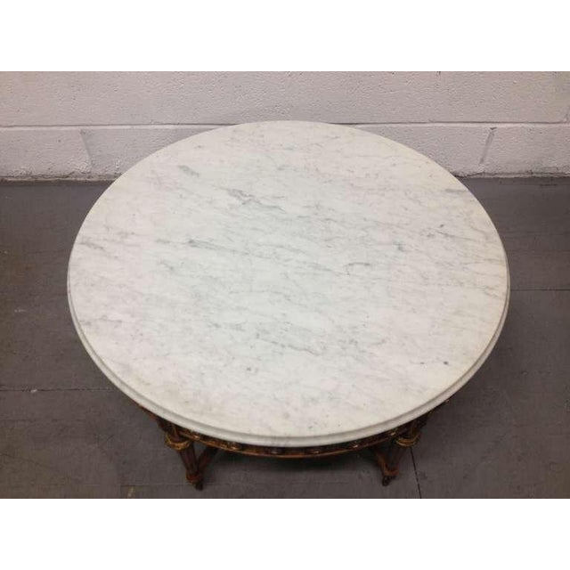French Antique French Coffee Table with Porcelain Sevres Plaques For Sale - Image 3 of 8
