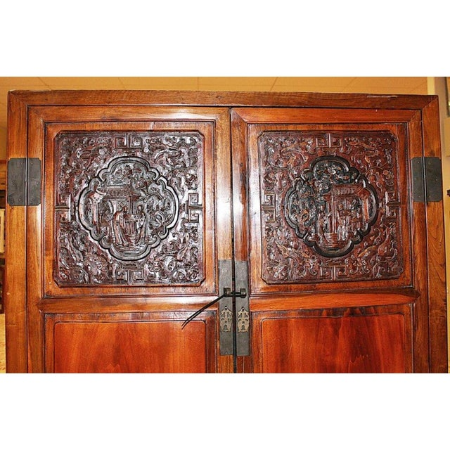Asian Chinese Armoire Cabinet For Sale - Image 3 of 9