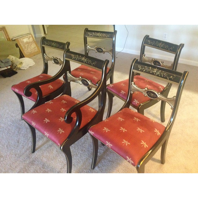 Hand-Painted Chairs - Set of 5 - Image 3 of 7