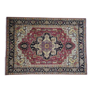 Hand-Knotted Serapi Heriz Wool Tribal Design Rug- 8′10″ × 12′4″ For Sale