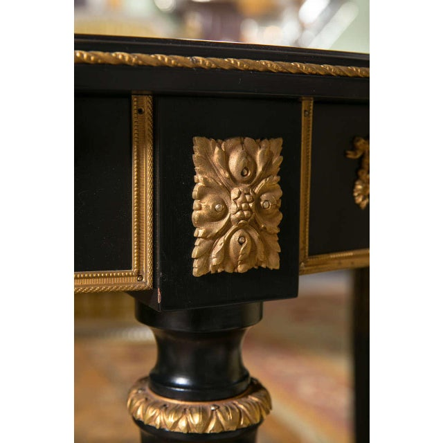 Black Maison Jansen Ebonized Dining Table W. Letter of Authentication. For Sale - Image 8 of 10