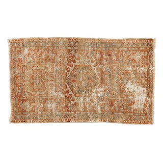 "Vintage Distressed Karaja Rug - 2'2"" X 3'8"" For Sale"