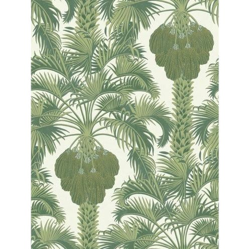 Cole & Son Hollywood Palm Border Wallpaper Roll - Leaf Green For Sale