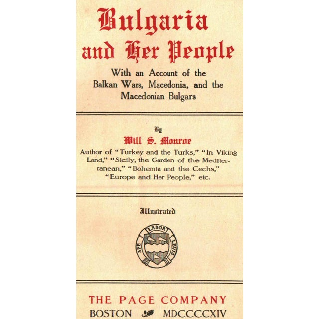 """""""Bulgaria and Her People"""" Hardcover Book by Will S. Monroe - Image 2 of 5"""