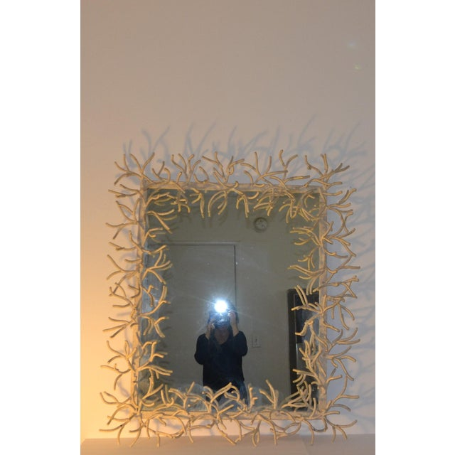 Faux-Coral Wall Mirror For Sale In Los Angeles - Image 6 of 6