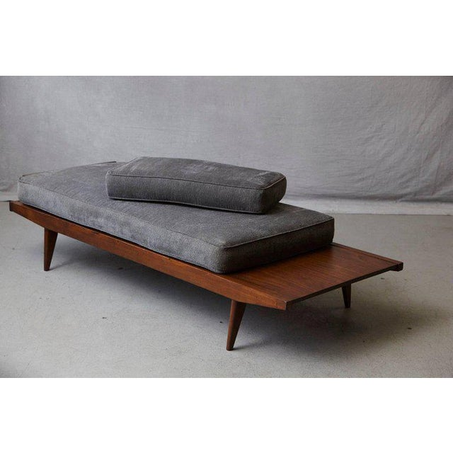 Gray French Lit De Repos or Daybed by Melior Marchot, 1950s For Sale - Image 8 of 10