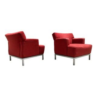 Krug Modern Lounge Chairs - A Pair