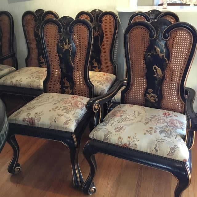Rose Tarlow Vintage Chinoiserie Dining Chairs - Set of 10 For Sale - Image 4 of 12