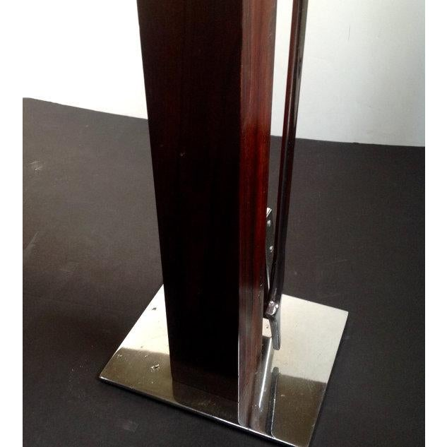 Alessandro Albrizzi Alessandro Albrizzi Rosewood & Chrome Fireplace Tools For Sale - Image 4 of 4