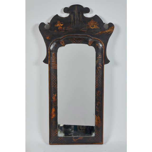 Black 19th Century English Chinese Chinoiserie Mirror For Sale - Image 8 of 8