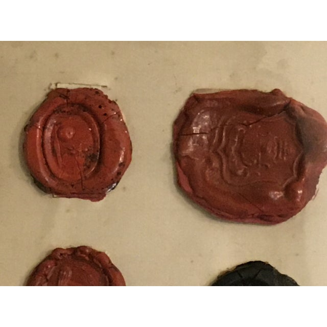 Antique English 29 Red and Black Intaglios Wax Seals For Sale - Image 4 of 12