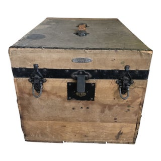 Late 19th Century Antique The M.C. Lilley & Co Trunk For Sale