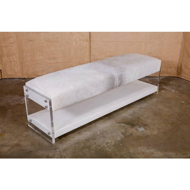 Modern Yves Lucite Benches For Sale - Image 10 of 10