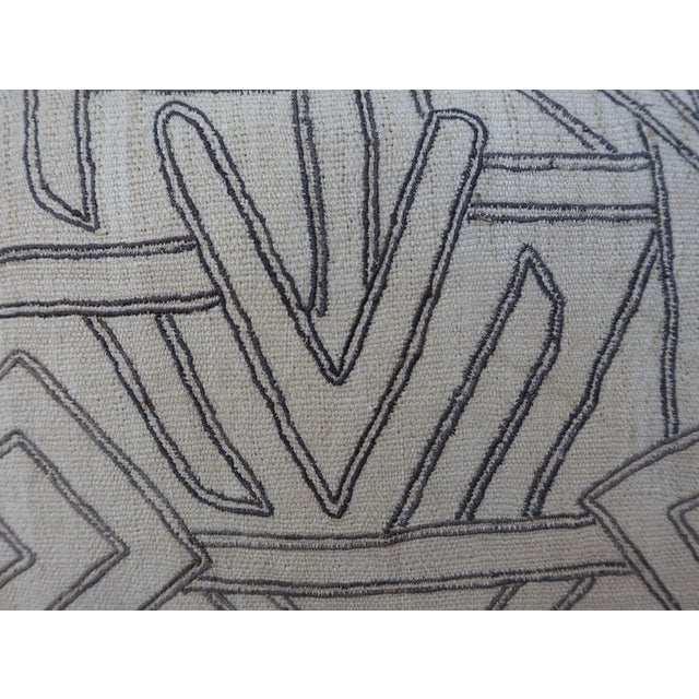 Geometric Kuba Cloth Pillows - A Pair For Sale In Los Angeles - Image 6 of 10
