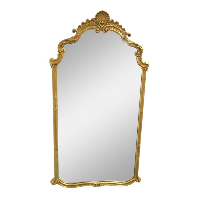 Italian Shell Carved Gilt Wall Mirror For Sale