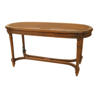 French Louis XVI Style '19th Century' Walnut Oval Shaped Bench For Sale