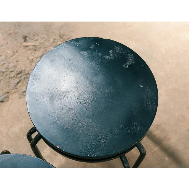Metal Set of 3 Stacking Stools / Side Tables For Sale - Image 7 of 8