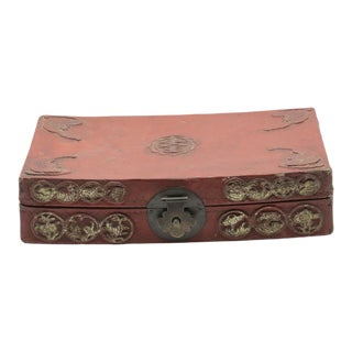 Antique Chinese Pig Skin Box For Sale