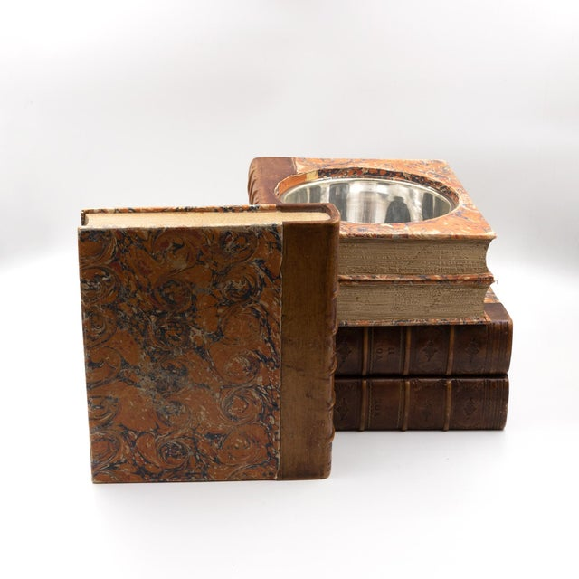 Late Victorian Book Stack Concealed Wine Cooler, English Circa 1880 For Sale - Image 4 of 9