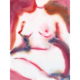 """Image of """"Whisper"""" Original Watercolor Figure Painting For Sale"""