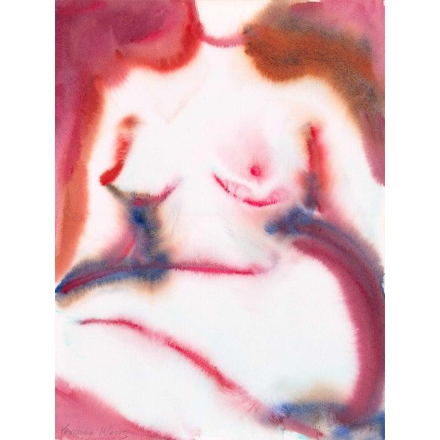 """Whisper"" Original Watercolor Figure Painting For Sale"