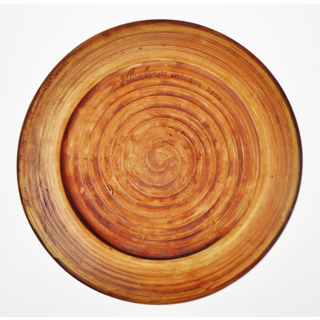 "American Classical Vintage Terrafirma Ceramics by Ellen Evans 12"" Dinner Plate For Sale - Image 3 of 8"