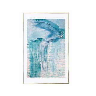 Arctic Ice Falls Abstract Painting
