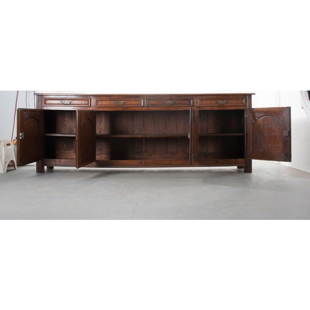 Brown French 19th Century Oak Enfilade For Sale - Image 8 of 10