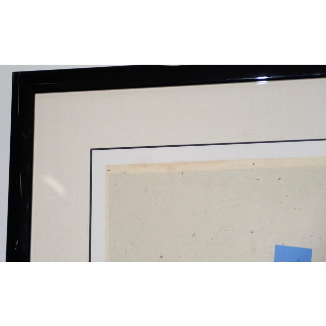 Late 20th Century Mixed Media Abstract on Paper by H. Munson C.1986 For Sale In San Francisco - Image 6 of 11