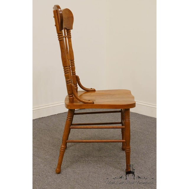 Wood Lexington Furniture Victoriana Series Solid Oak Desk / Accent Chair 610-537 For Sale - Image 7 of 9