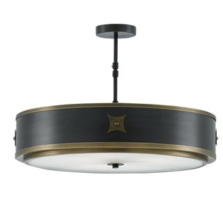 Currey & Co. Huntsman Semi-Flush Mount Light Fixture For Sale