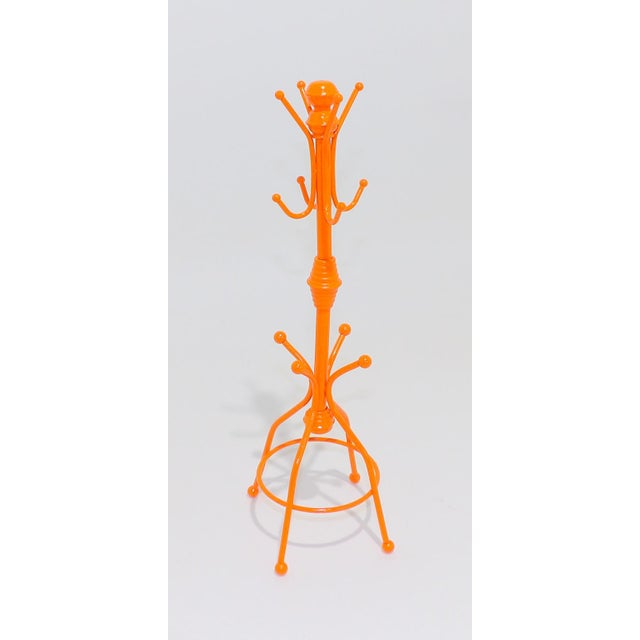 Contemporary OrangeMetal Necklace Rack For Sale In Sacramento - Image 6 of 6