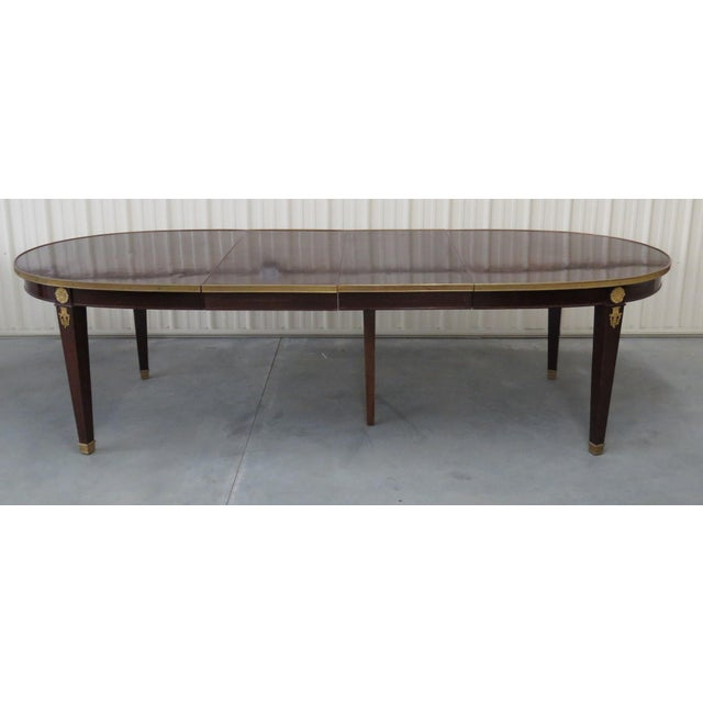 Gold Regency Style Dining Room Table For Sale - Image 8 of 8