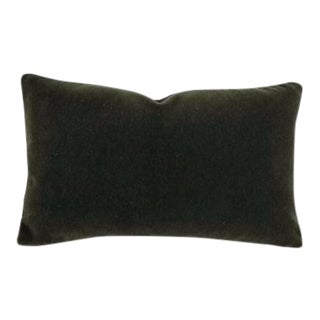 F. Schumacher San Carlo Mohair Velvet Balsam Lumbar Pillow Cover For Sale