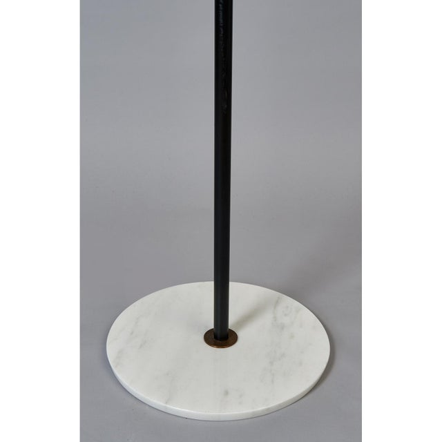 Stilnovo Monumental Floor Lamp in Marble and White Glass, Italy 1950's For Sale In New York - Image 6 of 9