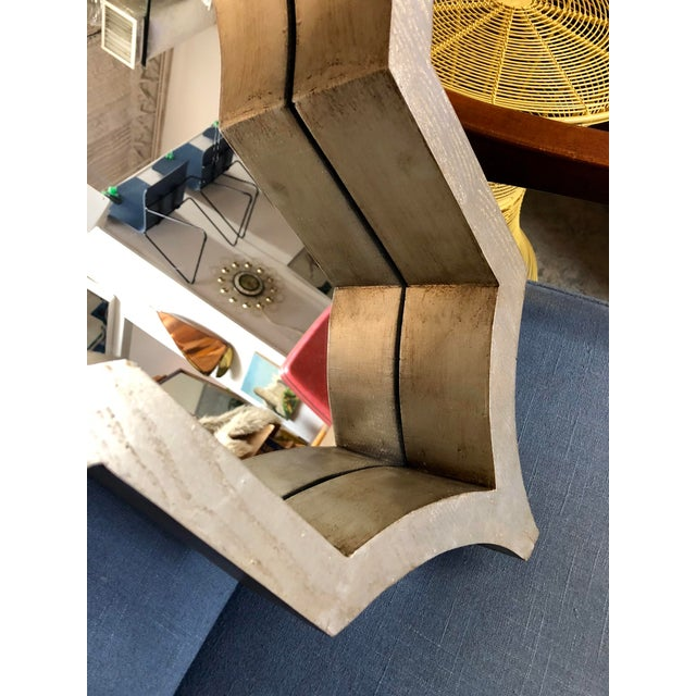 Contemporary Contemporary Mercana Silver Geometric Mirror For Sale - Image 3 of 6