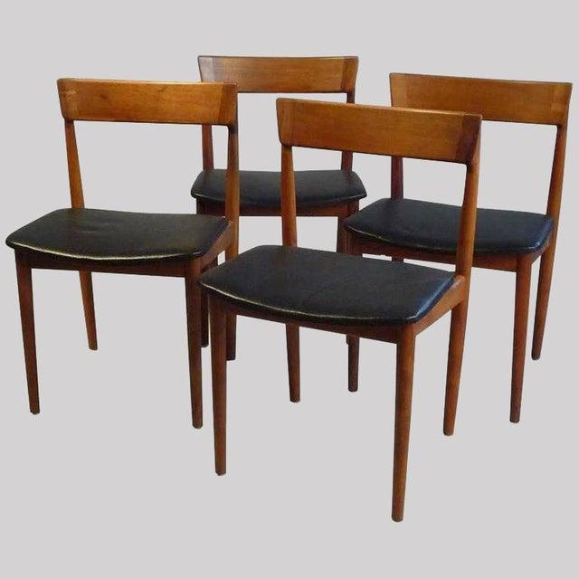 1960s Henry Rosengren Hansen Model 39 Teak & Leather Dining Chairs - Set of 4 For Sale - Image 9 of 9