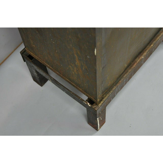 Metal Antique Industrial Cabinet For Sale - Image 7 of 11