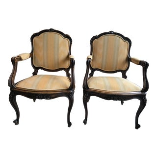 Late 19th Century Vintage French Chairs- A Pair For Sale