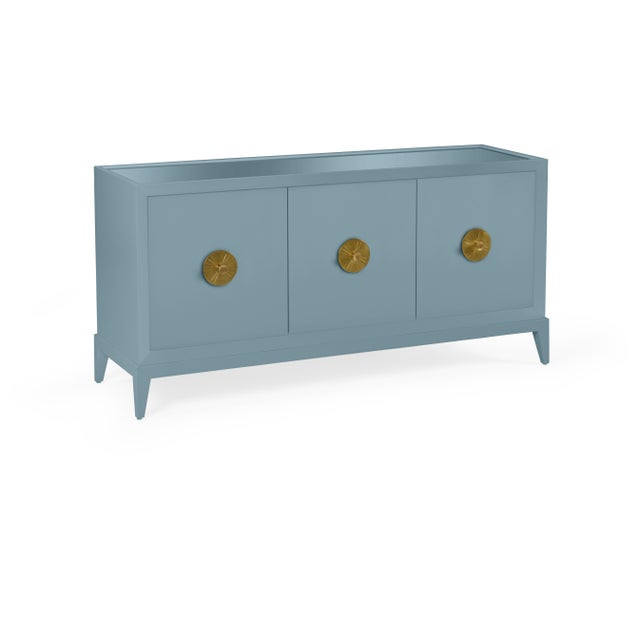 Transitional Casa Cosima Hayes Sideboard, Chiswell Blue For Sale - Image 3 of 5