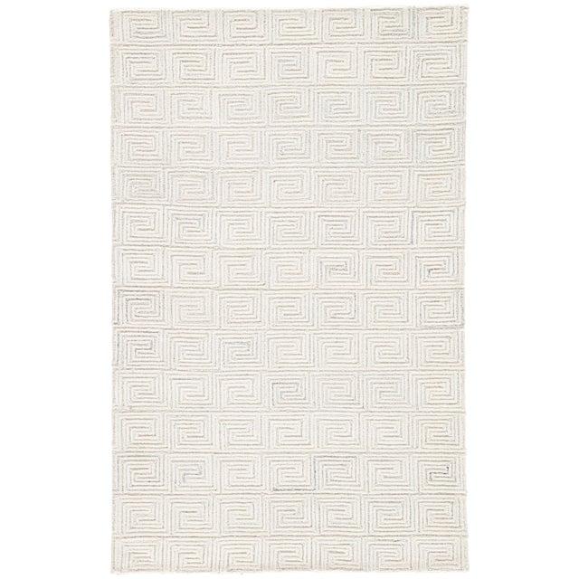 Jaipur Living Harkness Handmade Geometric White & Gray Area Rug - 5′ × 8′ For Sale In Atlanta - Image 6 of 6